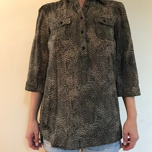 COTTON EXPRESS Animal 3/4 Sleeve Tunic Small